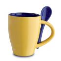 81065 Ceramic mug with spoon
