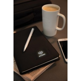 8965 Engraved sample of Light up logo notebook