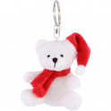 MHE 196 Christmas white bear, keyring
